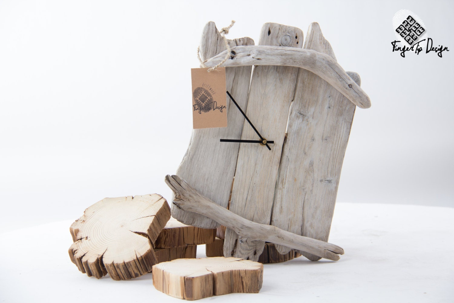 Handcrafted driftwood wall clock zoom amipublicfo Image collections