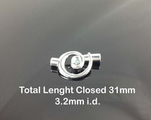 Kumihimo Spiral End Clasp and Clasp 3.2mm id
