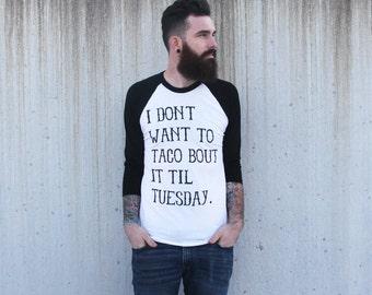 Taco Tuesday - Mens Unisex Baseball T