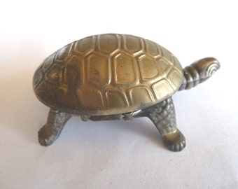 Vintage, French Metal Turtle Box