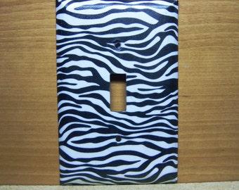 Light Switch Cover Zebra Print