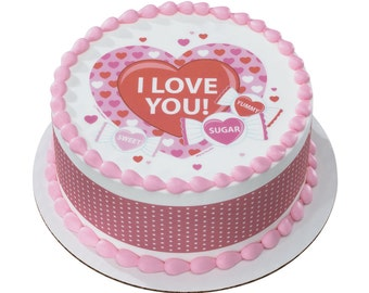 """Edible Image Valentines """"I Love You"""""""