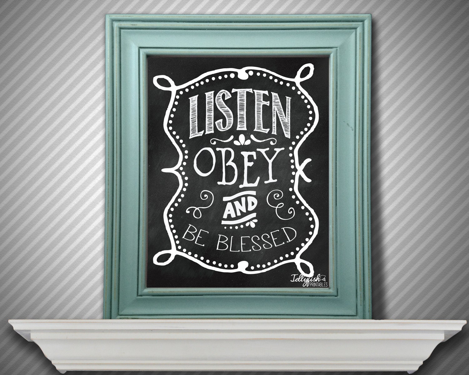 Wedding Gift Ideas For Jehovah Witness : Listen Obey & Be Blessed Wall Print for by JellyfishPrintables