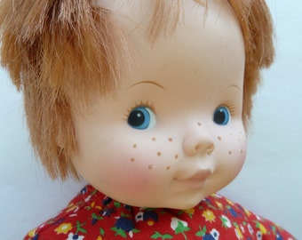 Play Pal  Doll Soft Cute Freckled  face