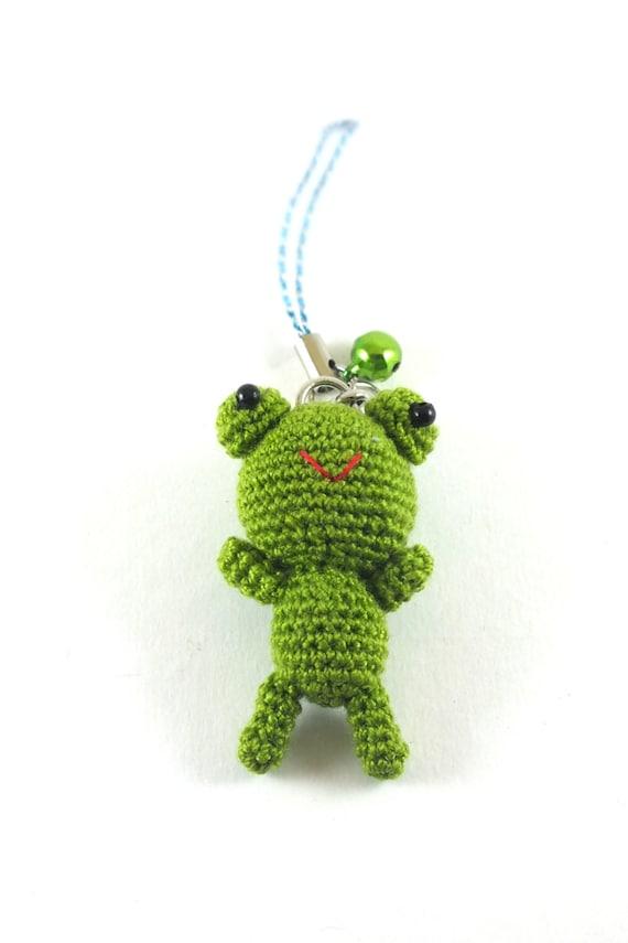 Amigurumi Green Frog : Mini Olive-Green Frog Amigurumi Crochet Doll Cell by ...