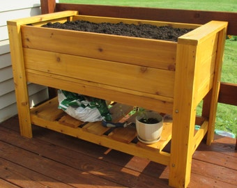 Elevated Planter Box With Shelf **Free Shipping US48**