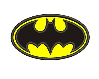 Batman Applique 4x4 5x7 - Embroidery Machine Design - Instant Download!