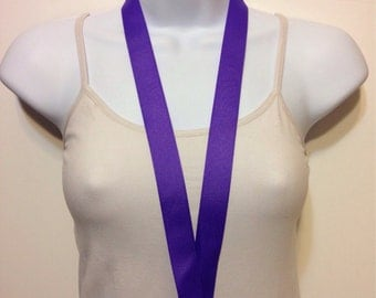 Purple lanyard, ID holder, key holder