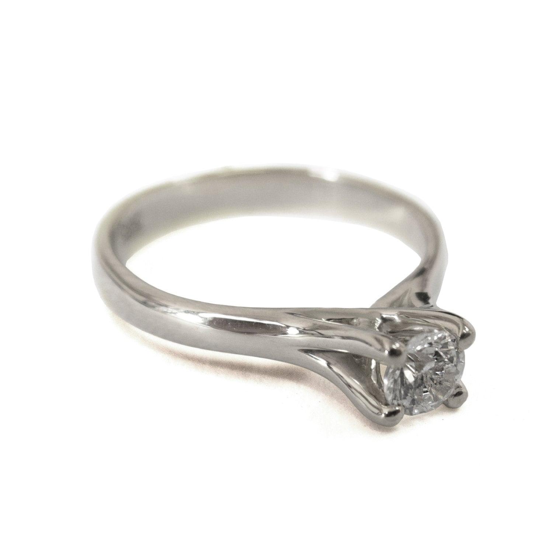 engagement ring 14k white gold and moissanite engagement
