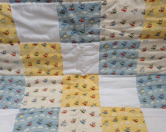Top patchwork baby Playmat helicopter helicopter