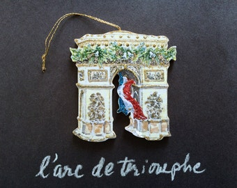 Handmade Arc de Triomphe Ornament