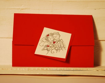 Participation and wedding invitation handmade paper
