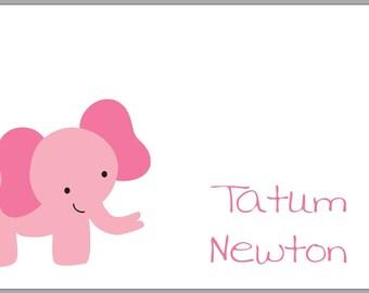 Enclosure Cards - Set of 20 - Pink Elephant
