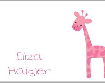 Enclosure Cards - Set of 20 - Pink Giraffe