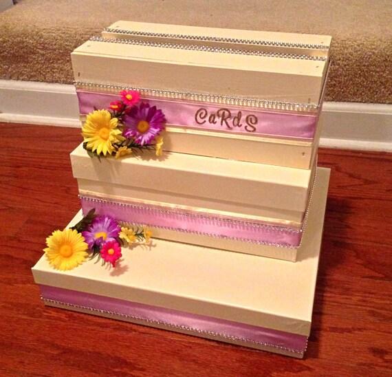 Custom Wedding Card Gift Box by LucysCustomCreations on Etsy