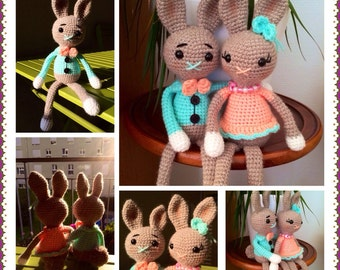 lapin en crochet : tuto by Créa'Marge