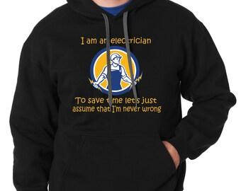 Electrician Hoodie Funny Sweater Electrician Sweatshirt Christmas