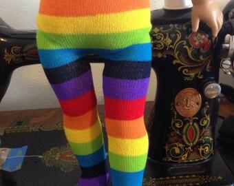 Rainbow tights - fit American Girl Dolls