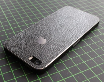 iPhone decal / sticker / skin. 3D black leather structure. Fits iPhone 4 / 4s/5/5s