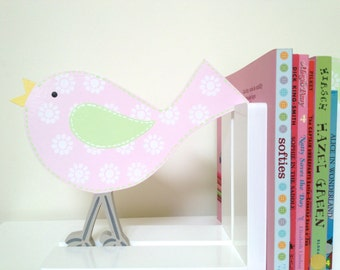 Bookends - Bird Bookends, Wooden Bookends, Children's Bookends, Girls Bookends, Nursery Decor, Nursery Bookends, Kids Bookends, Babys Room