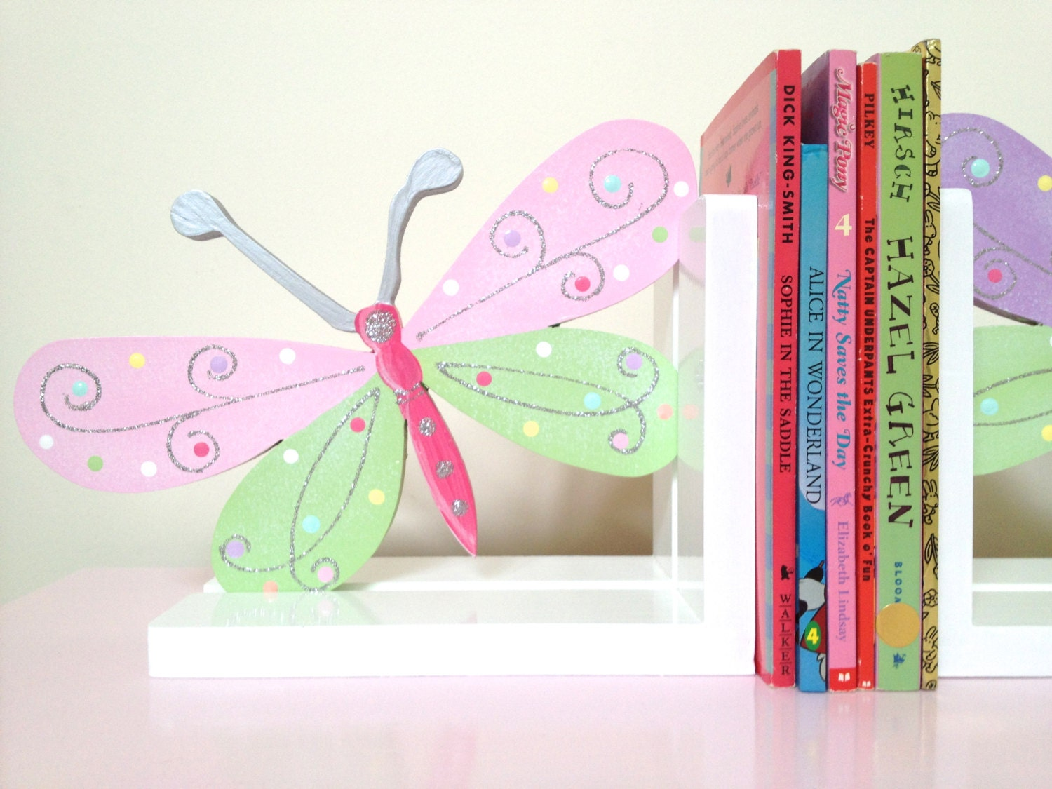 Butterfly bookends children 39 s bookends bookends girls for Decoration a petit prix