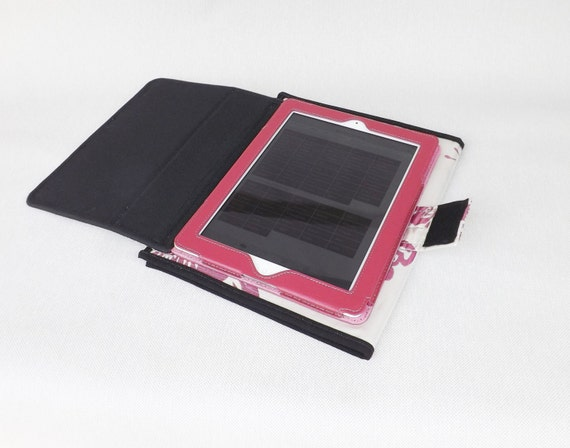 jw field service organizer with tablet holder pearl background fuchsia bird and flowers design