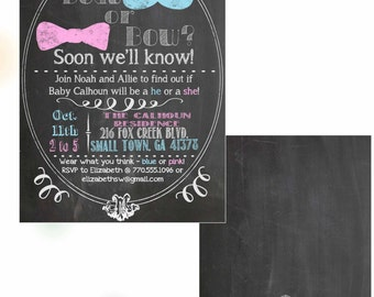 Beau or Bow? Gender Reveal Party - Personalized Digital File