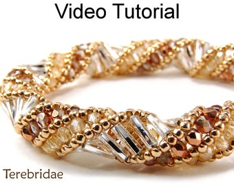 Beading Tutorial Pattern Russian Spiral Stitch Bracelet Necklace Beaded Jewelry Making Video Spiraling Tubular Bead Beginner Beautiful #9709