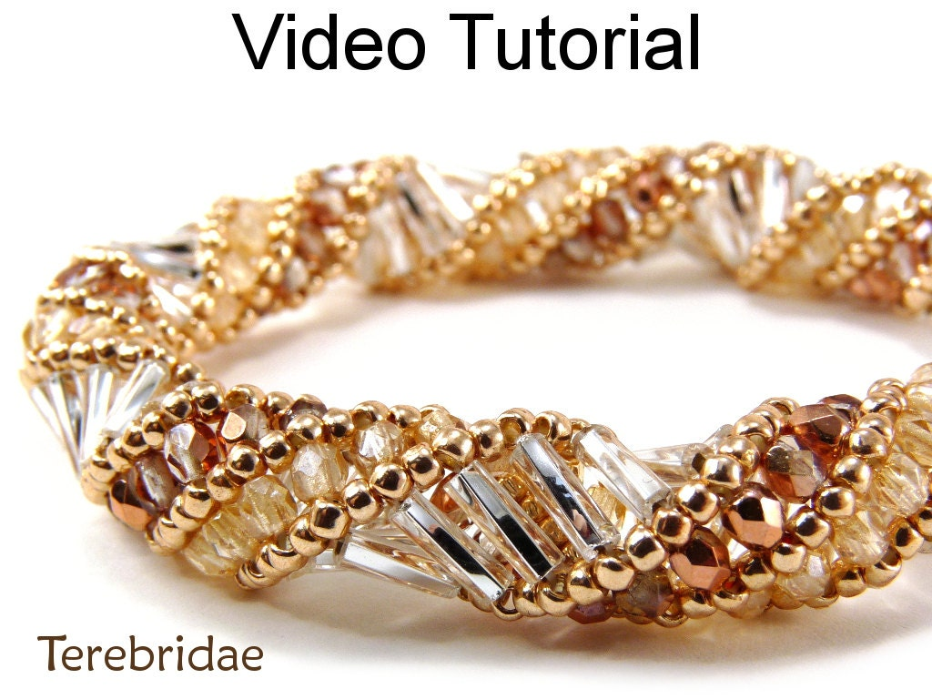 beading tutorial pattern russian spiral stitch bracelet