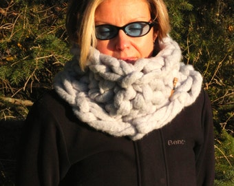 arm knitted chunky neck cowl