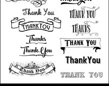 Unique thank you clip art related items   Etsy