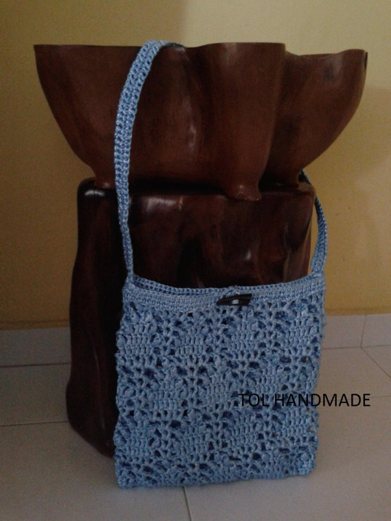 Crochet Easter Bag Pattern : Handmade crochet messenger bag everyday bag sling by ...