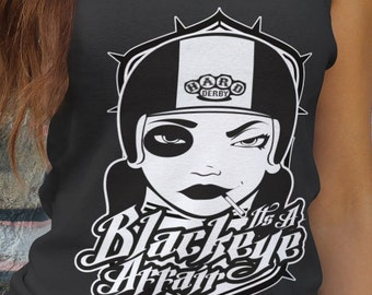 Black eye Affair - roller derby tank top