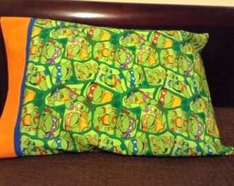 Teenage Mutant Ninja Turtle Pillowcase, TMNT, Teenage Mutant Ninja Turtle  Bedding, Boys Bedding