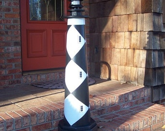 Cape Lookout Lighthouse Solar Decorative Lawn and Garden Ornament – 45 inches