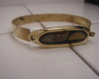 Brass inlay Bracelet 175