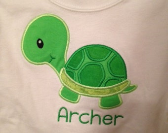 Personalized Turtle Shirt for Boys or Girls