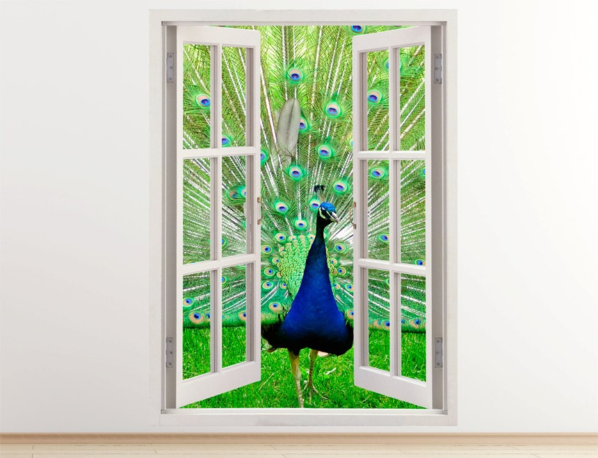 Details. Vertical 3D Window Wall Sticker   A Peacock ... Part 51