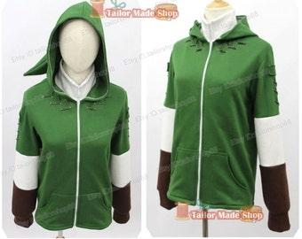 Link from The Legend of Zelda Hoodie Jacket green