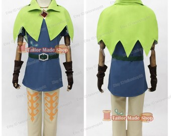 Legend of Zelda Skyward Sword Groose Cosplay Costume with accessories