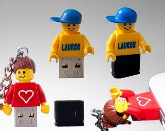 Personalised lego® usb keychain 16 GB