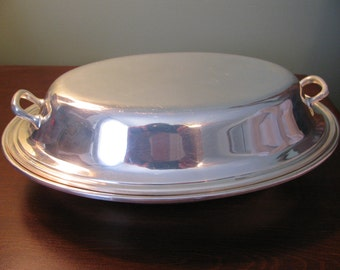 Gorham Silver Plate Covered Vegetable Bowl, Colonial Pattern