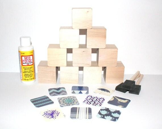 Diy baby shower craft wooden baby blocks blue nursery for Child craft wooden blocks