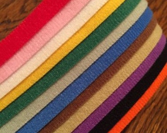 "12 Pack of 14"" One Wrap Velcro Whelping ID Collars Solid Colors"