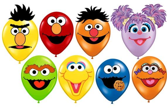 Sesame street faces Printables for balloons, elmo, cookie monster ...