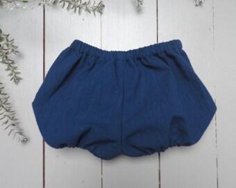 SALE-20% blue night Bloomer - baby - cotton - elastic waist