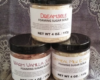 Foaming Sugar Scrub ~ Your Choice of Scent