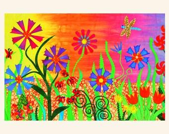 Q13 Flower Garden Quilt