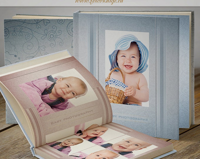 PHOTOBOOK - For boys and girls - photo book in classic style - Photoshop Templates for Photographers. 12x12 Photo Book/Album Template