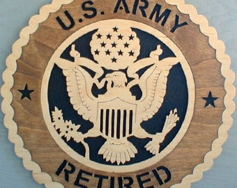 U.S. Army Retired..Shipped priority Mail